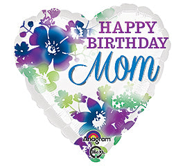 "18"" Happy Birthday Mom (Heart)"