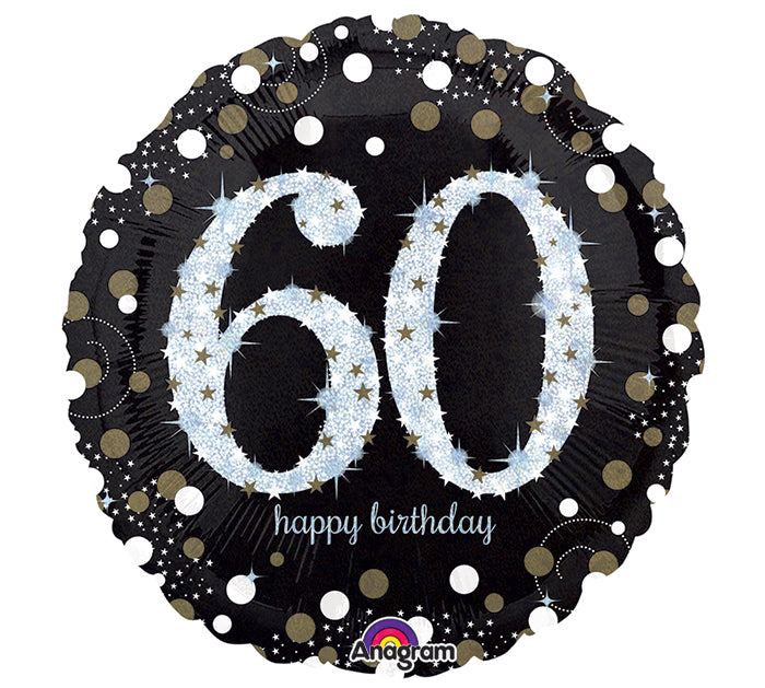 "18"" Happy 60th Birthday Sparkling"