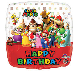 "18"" Happy Birthday Mario"