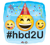 "18"" Emoticon HBD2U"
