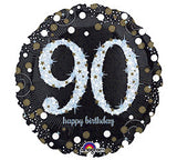 "18"" Happy Birthday 90th Sparkling"