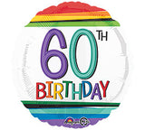 "18"" Happy 60th Birthday Rainbow"