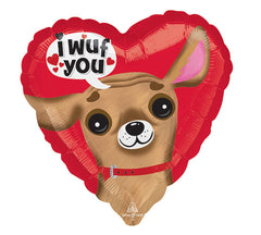 "17"" I Wuf You Heart"
