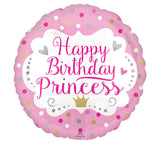 "18"" Happy Birthday Princess (dots)"