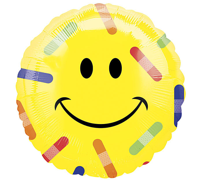 "18"" Get Well Soon Smiley w/ Bandaids"