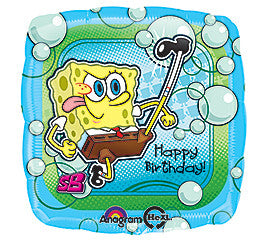 "18"" Happy Birthday Spongebob (square)"