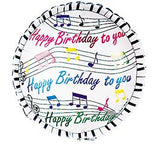 "18"" Happy Birthday Piano Keys"