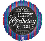 "18"" Happy Birthday Chalkboard (blue)"