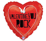 "18"" Valentine's You Rock"