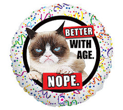 "18"" Grumpy Cat Birthday Better with Age"