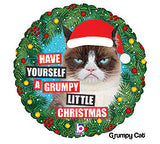 "18"" Christmas Grumpy Cat"