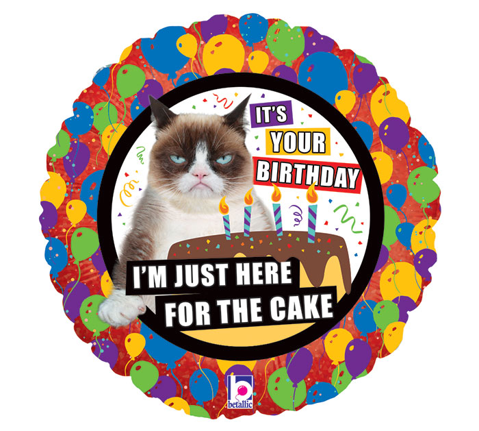 "18"" Grumpy Cat Cake Birthday"