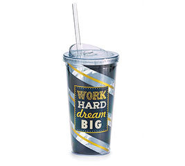 Work Hard Dream Big Travel Cup