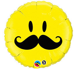 "18"" Smiley with Mustache"