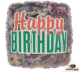 "18"" Happy Birthday Camo"