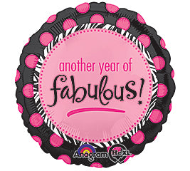 "18"" Another Year of Fabulous"
