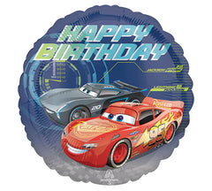 "17"" Happy Birthday Cars 3"