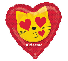 "18"" Cat Emoticon #kissme"