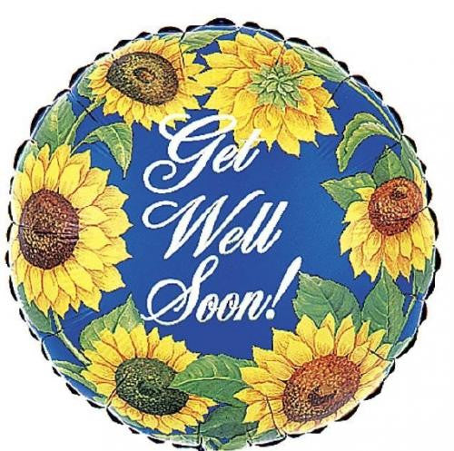 "18"" Get Well Sunflowers"