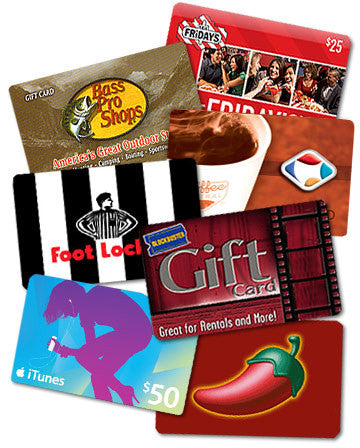 $25 Retail Gift Cards