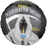 "18"" I'm Here for the Cake Grim Reaper"