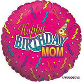 "18"" Happy Birthday Mom (pink)"