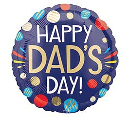 "18"" Happy Dad's Day Dots"