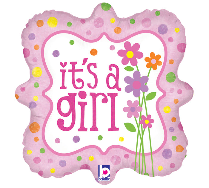 "18"" It's a Girl (flowers)"