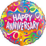 "18"" Happy Anniversary (Streamers)"