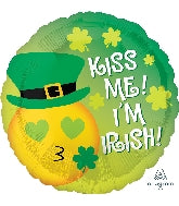 "18"" St Patrick's Day Kiss Me I'm Irish"