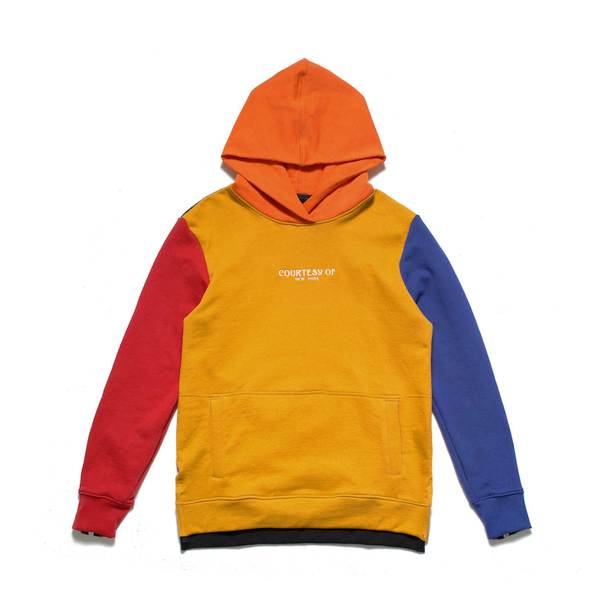 MADISON COLOR BLOCK PULLOVER HOOD