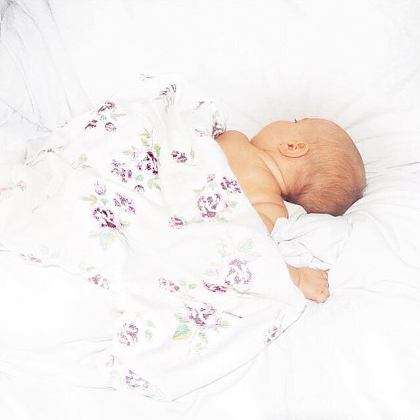 Pixel Rose Flannel Swaddle