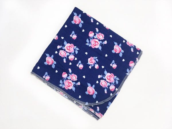 Navy Rose Swaddle