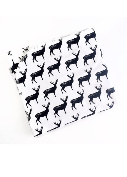 Monochrome Deer Swaddle