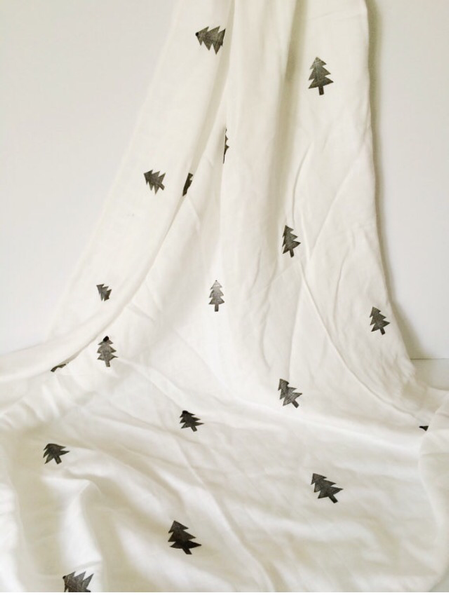 Monochrome Forest Swaddle