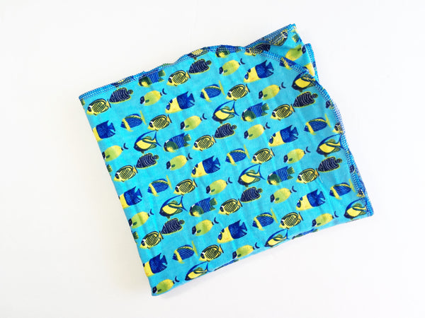 Tropical Fish Flannel Swaddle