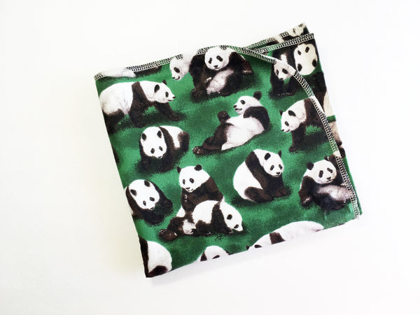 Panda Flannel Swaddle