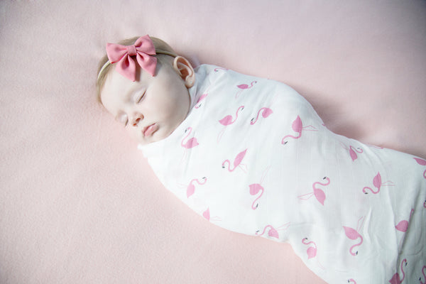 The Flamingo Baby Muslin Swaddle