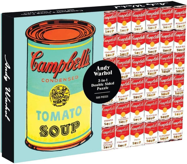 Andy Warhol Soup Can 2-Sided Puzzle