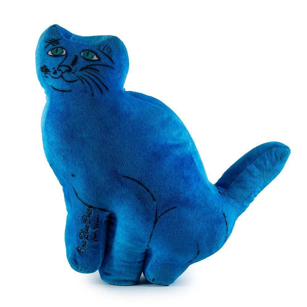 Andy Warhol Cat Plush: Blue