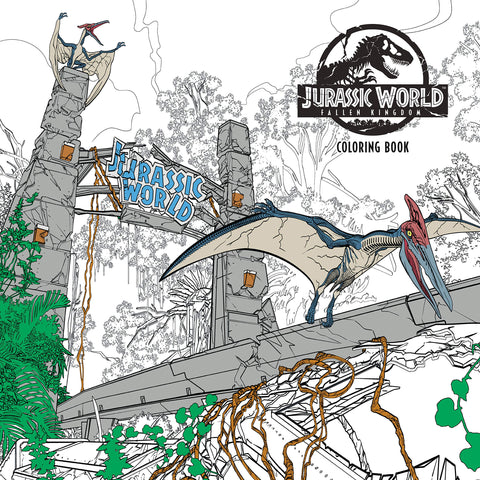 Jurassic World: Fallen Kingdom Adult Coloring Book