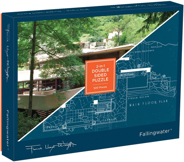 Frank Lloyd Wright Fallingwater Two Sided Puzzle