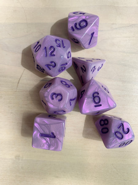 RPG Dice: Pearl Violet/Purple