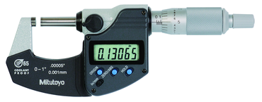 "Mitutoyo Digimatic Micrometer - 1"" No Output IP65 Ratchet Inch/Metric - D&T Industrial Supply"