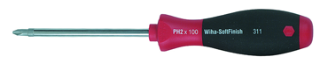 Wiha #1 x 80mm - Phillips Screwdriver with SoftFinish® Cushion Grip - D&T Industrial Supply