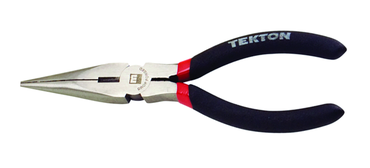 Tekton Long Needle Nose Pliers -- #3507 Vinyl Grip Handles 6.5'' Long - D&T Industrial Supply