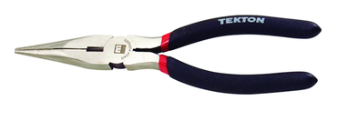 Tekton Long Needle Nose Pliers -- #3511 Vinyl Grip Handles 8'' Long - D&T Industrial Supply