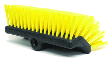 "Weiler 10"" - Bi-Level Scrub Brush; Recycled PET Fill - D&T Industrial Supply"