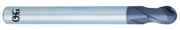 "OSG USA, Inc. 1/8"" Dia. - 2"" OAL - Solid Carbide - Ball Nose HP End Mill-2 FL - D&T Industrial Supply"