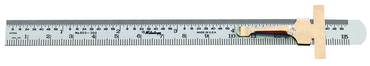 "Mitutoyo #950-300 - 6"" x 150mm - Pocket Steel Rule with Clip - D&T Industrial Supply"